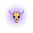 animal, bone, buffalo, comics, dead, head, skull icon