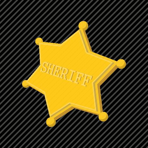 authority, cartoon, gold, metal, sheriff, star, west icon