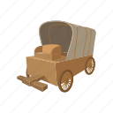 cart, cartoon, transportation, wagon, west, wheel, wild icon