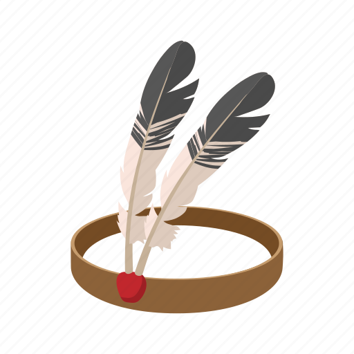 american, cartoon, feather, head, headdress, indian, warrior icon
