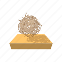 bush, cartoon, dead, desert, plant, tumbleweed, weed icon