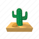 cactus, cartoon, desert, dry, west, western, wild icon