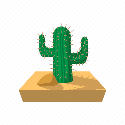 cactus, cartoon, desert, dry, west, western, wild icon