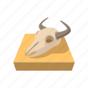 animal, bone, buffalo, cartoon, dead, head, skull icon