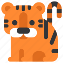 animal, beast, fauna, tiger, wild, wildlife, zoo icon