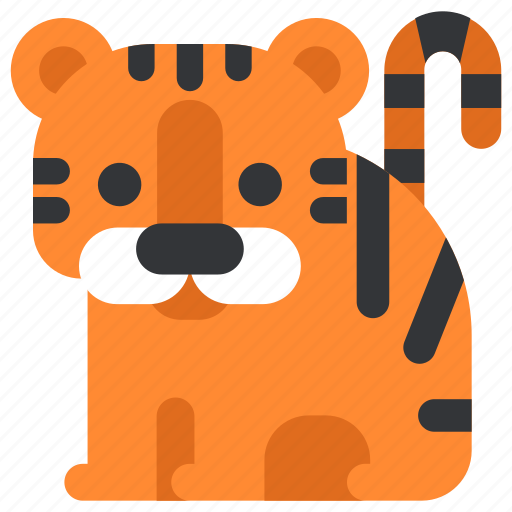 animal, beast, fauna, tiger, wild, wildlife, zoo icon