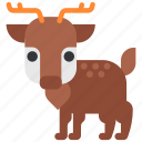 animal, beast, deer, fauna, wild, wildlife, zoo icon