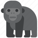 animal, beast, fauna, gorilla, wild, wildlife, zoo icon