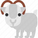animal, beast, fauna, ram, wild, wildlife, zoo icon