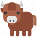 animal, beast, bull, fauna, wild, wildlife, zoo icon