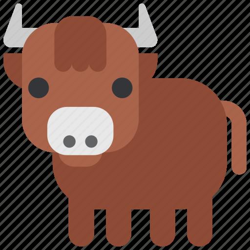 animal, beast, bull, fauna, wild, wildlife, zoo icon
