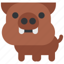animal, beast, boar, fauna, wild, wildlife, zoo icon