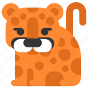 animal, beast, cheetah, fauna, wild, wildlife, zoo icon