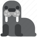 animal, beast, fauna, walrus, wild, wildlife, zoo icon