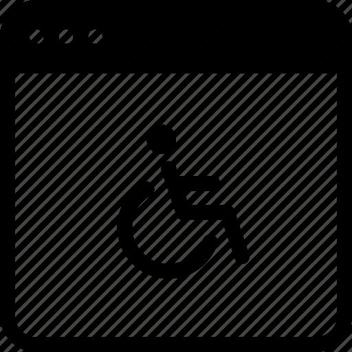 accessibility, application, chair, person, wheelchair, windows icon