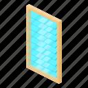 frame, house, isometric, object, rectangular, white, window