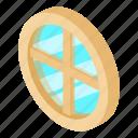 frame, house, isometric, object, round, white, window