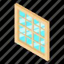 frame, house, isometric, lattice, object, white, window