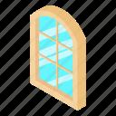 frame, house, isometric, object, semicircular, white, window