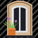 entrance window, exterior shutter, outdoor window, window blinds, window shutter icon