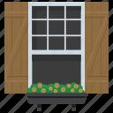 exterior shutter, home window, outdoor window, window blinds, window shutter icon