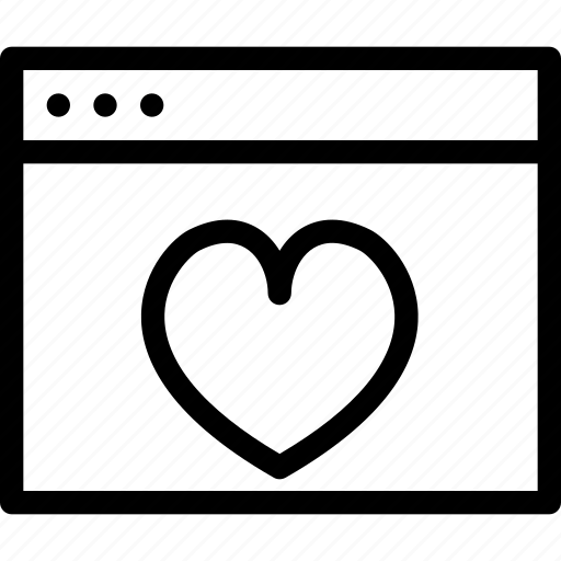 browser, creative, document, dots, favourites, grid, heart, like, line, love, love-window, page, save, shape, window icon