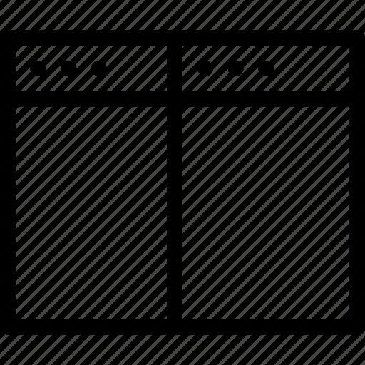 align, arrange, browser, creative, divide, document, grid, layout, line, page, shape, split, split-vertical, tile, vertical, window icon