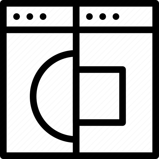 browser, creative, divide, document, duplicate, grid, line, multiple, page, shape, split, split-window, window icon