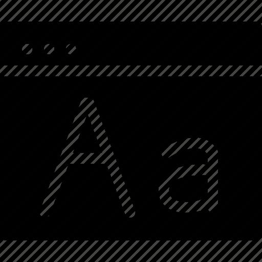 creative, font, font-size, font-window, fonts, grid, preferences, shape, types, window icon