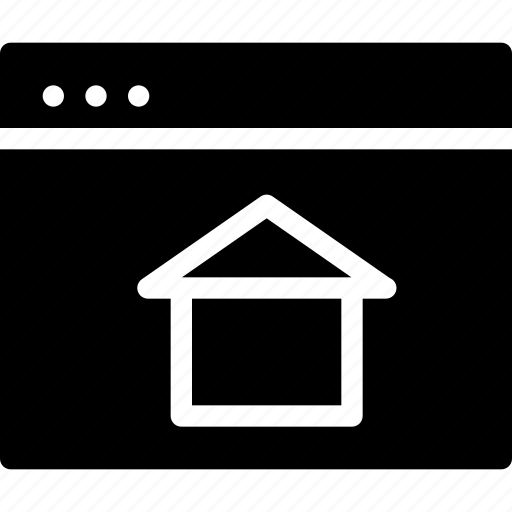 browser, creative, document, dots, first, grid, home, home-window, house, page, shape, start, window icon