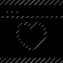 browser, creative, document, dots, favourites, grid, guardar, heart, like, love, love-window, page, save, shape, window icon