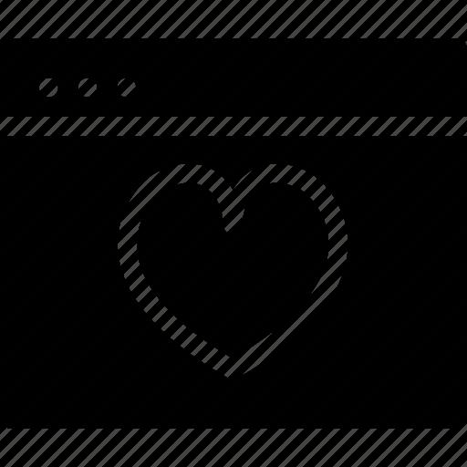 browser, creative, document, dots, favourites, grid, heart, like, love, love-window, page, save, shape, window icon