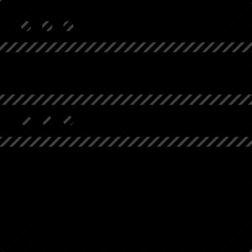 align, arrange, browser, creative, divide, document, dots, grid, horizontal, layout, page, shape, split, split-horizontal, window icon