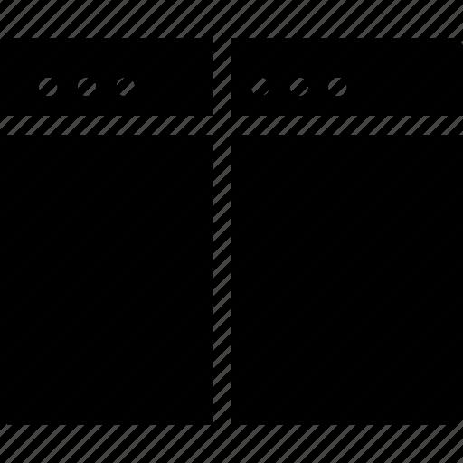 align, arrange, browser, creative, divide, document, grid, layout, page, shape, split, split-vertical, tile, vertical, window icon