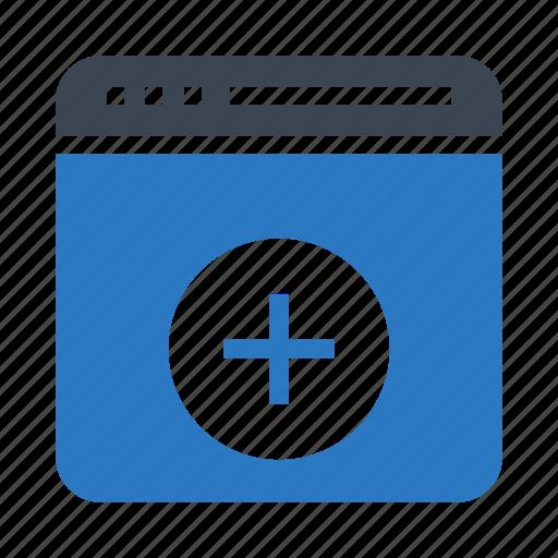 add, browser, internet, online, webpage icon