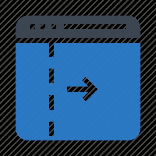 arrow, internet, online, webpage, window icon