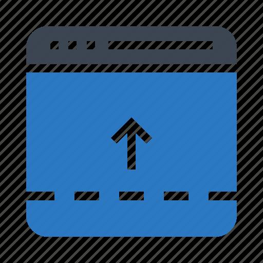 arrow, browser, internet, webpage, window icon