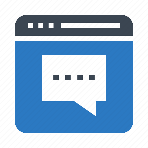 chat, internet, messages, online, window icon