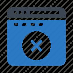 cross, delete, internet, webpage, window icon