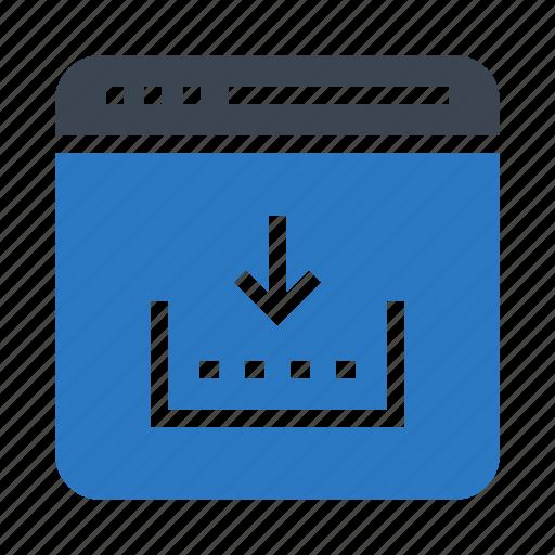 browser, download, internet, webpage, window icon