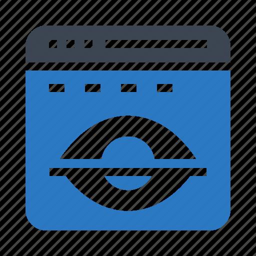 browser, hide, internet, webpage, window icon