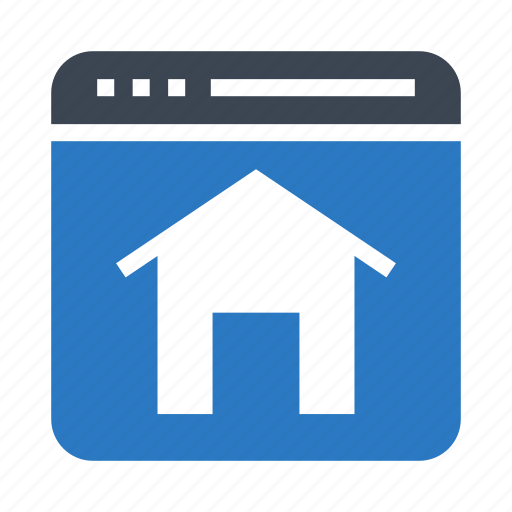 browser, homepage, internet, online, webpage icon