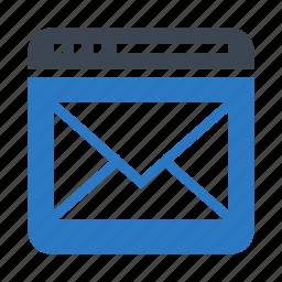 email, inbox, internet, online, webpage icon