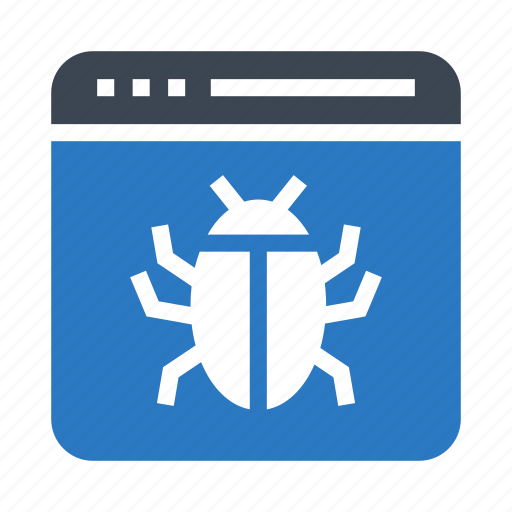 bug, internet, online, virus, webpage icon