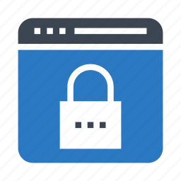 internet, lock, protection, security, webpage icon