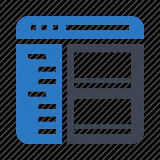 browser, menu, online, webpage, window icon