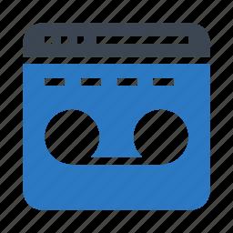 internet, online, recording, webpage, window icon