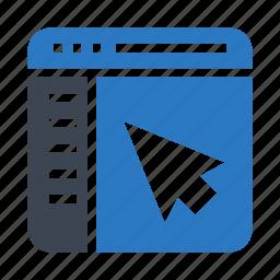 cursor, internet, online, pointer, webpage icon