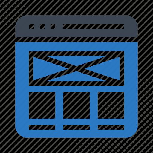 email, inbox, internet, webpage, window icon
