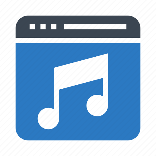 internet, music, online, song, webpage icon